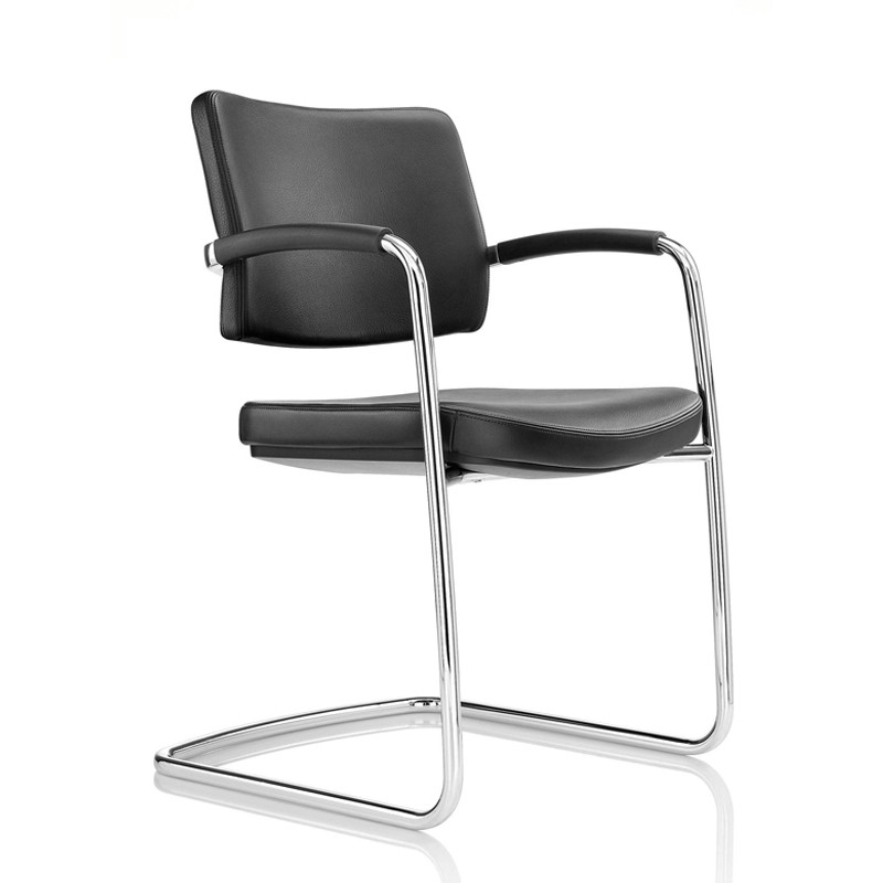 Pro   Leather Chair With Cantilever Base ...