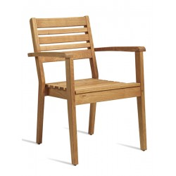 More   Wooden Chair with Leg Base