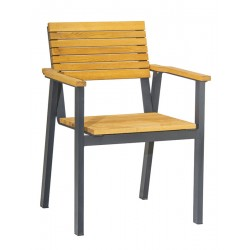 Bench   Wooden Chair with Leg Base