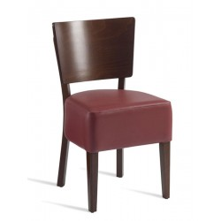 Wine   Wooden Chair with Leg Base