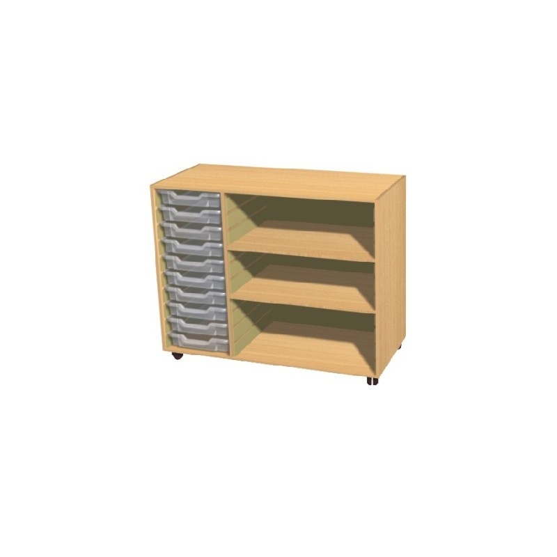 10 Tray Storage Unit With Shelves