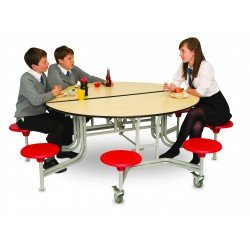 Round Mobile Folding Table