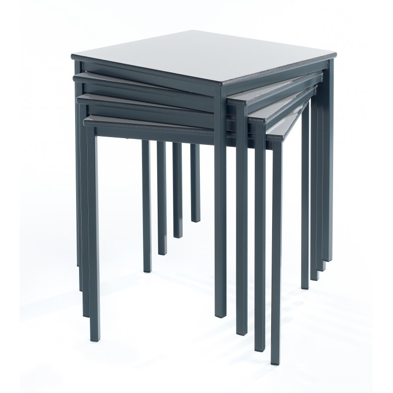... Square Classroom Table   Fully Welded Frame   PU Edge