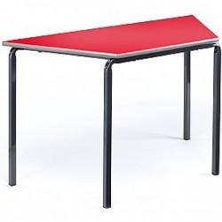 Trapeziodal Classroom Table - Crushbend Frame - MDF Edge