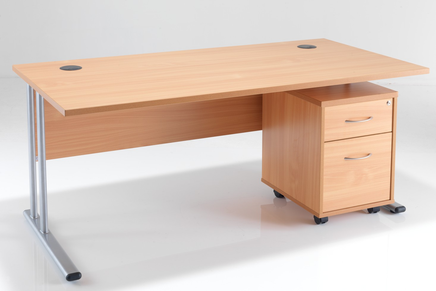 Rectangular Office Desk & Under Desk Pedestal Bundle Deal